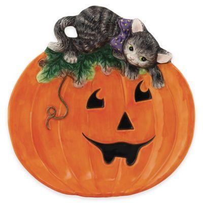 Fitz and Floyd® Halloween Kitty Canapé Plate