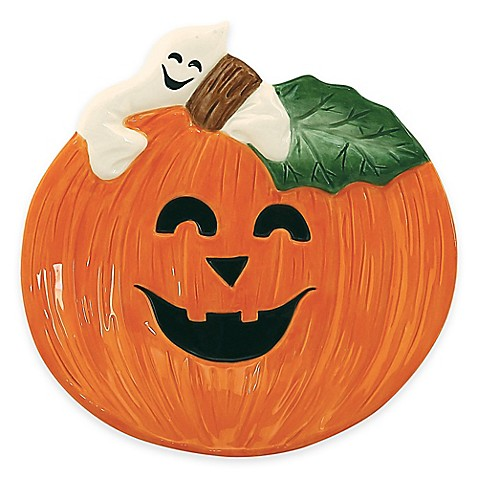 Buy fitz and floyd pumpkin and ghost canap plate from for Fitz and floyd canape plate