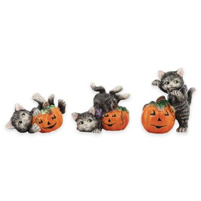 Fitz and Floyd® Halloween Kitty Figurines (Set of 3)