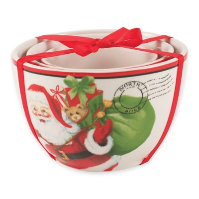 Fitz and Floyd® Letters to Santa 3-Piece Nested Bowls Set