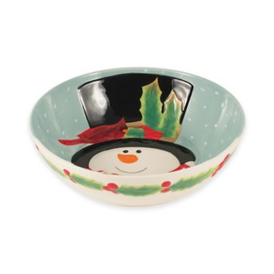 Fitz and Floyd® Holly Berry Snowman Serving Bowl