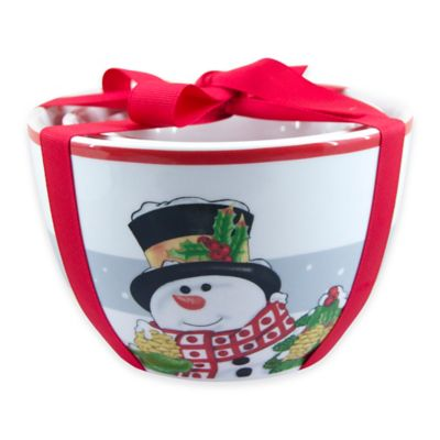 Fitz and Floyd® Holly Berry Snowman 3-Piece Nesting Bowl Set