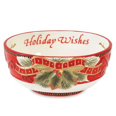 Fitz and Floyd® Damask Holiday Sentiment Bowl