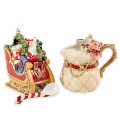 Fitz and Floyd® Night Before Christmas Sugar and Creamer (Set of 2)