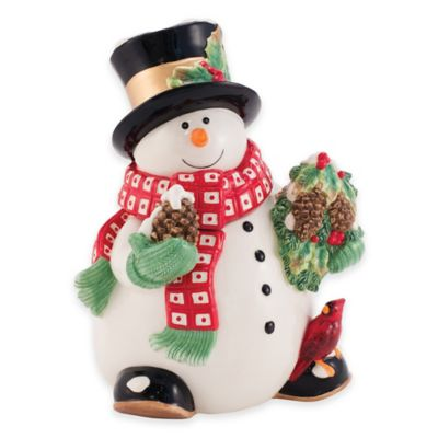 Fitz and Floyd® Holly Berry Snowman Cookie Jar