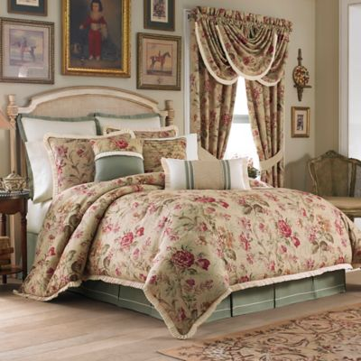 Croscill® Cottage Rose Queen Comforter Set