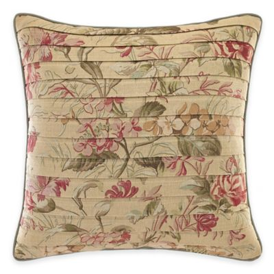 Croscill® Cottage Rose Square Throw Pillow