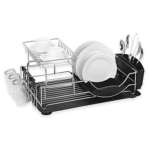 Home Basics 174 2 Tier Deluxe Dish Drainer Bed Bath Amp Beyond
