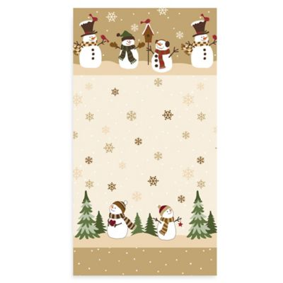 Heartland Snowman 20-Count Guest Towels