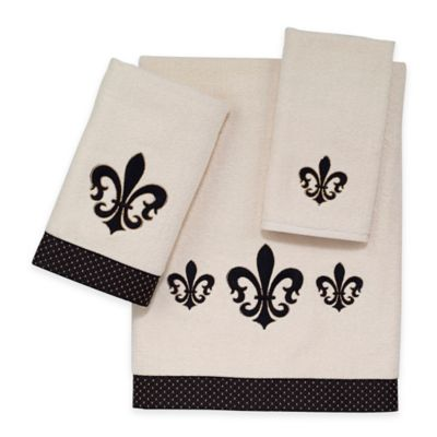 Avanti Luxemborg Fleur De Lis Fingertip Towel