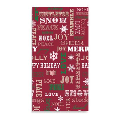 Happy Holidays 20-Pack Guest Towels