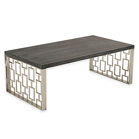 Buy toronto coffee table in charcoal from bed bath beyond for Charcoal coffee table