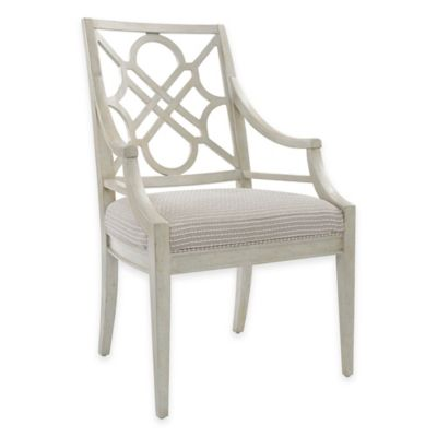Stanley Furniture Fairlane Wood Arm Chair in Luna