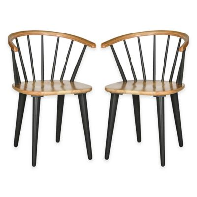 Safavieh Blanchard Side Chairs in Grey/Natural (Set of 2)