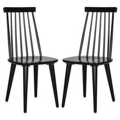 Safavieh Burris Side Chairs in Black (Set of 2)