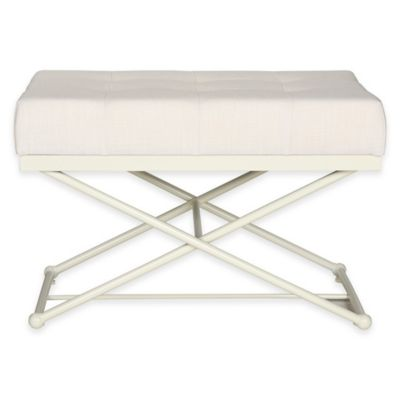 Safavieh Cara Bench in Light Beige Linen