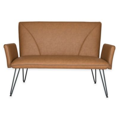Safavieh Johannes Salute to the Fifties and Sixties Settee in Caramel