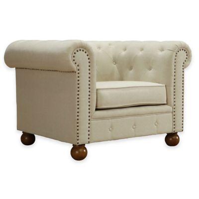 Dempsey Soft Linen Chair in Beige