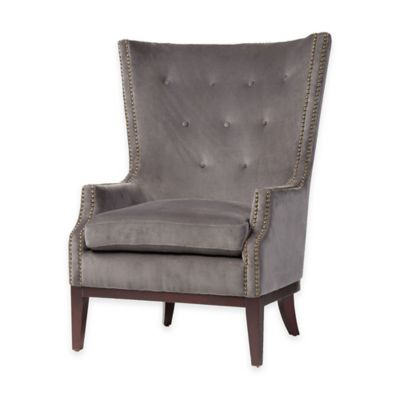 Ellsworth Occasional Chair in Grey Chevron