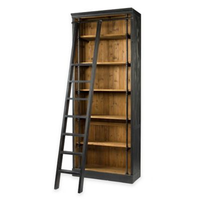 Urban Oasis Kingston Bookcase with Ladder in Black
