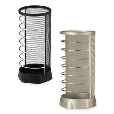 Yamazaki Home X-Change Round Umbrella Stand in Silver
