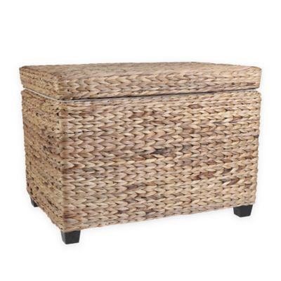Water Hyacinth Ottoman Trunk in Natural