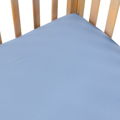 Wamsutta® BABY 400 Thread Count Solid Crib Sheet in Blue