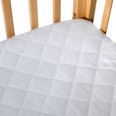 Quilted 100% Cotton Waterproof Portable Crib Pad by bb Basics
