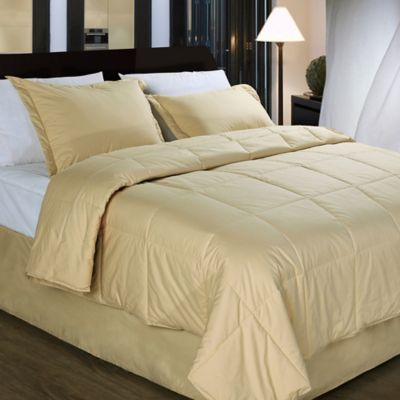 Cotton Dream Colors All Natural Cotton Filled Full/Queen Comforter in White