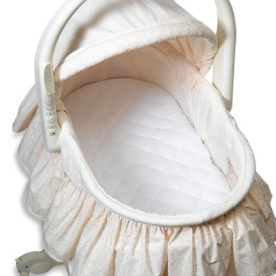 Quilted 100% Cotton Waterproof Bassinet Pad by bb Basics