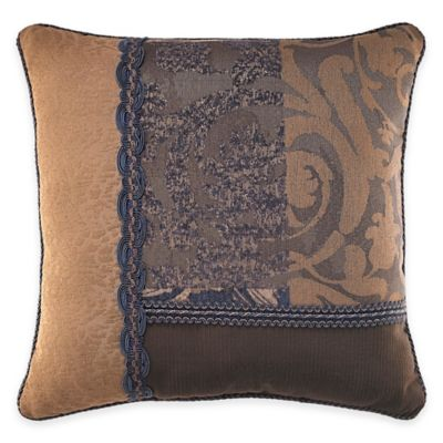 Croscill® Ryland Square Throw Pillow in Blue