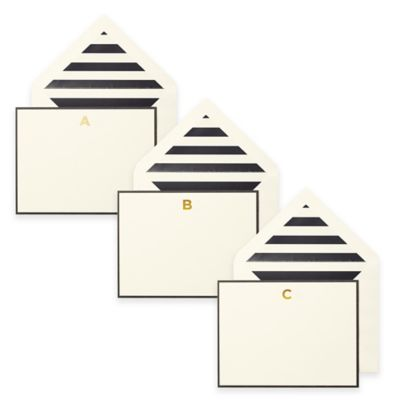 "kate spade new york Letter ""A"" Correspondence Cards (Set of 10)"