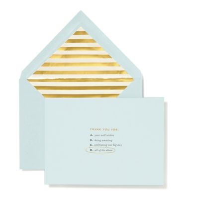 "kate spade new york ""All of the Above"" Bridal Thank You Cards (Set of 10)"
