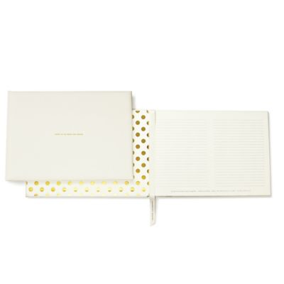 "kate spade new york ""Notes to the Bride and Groom"" Guest Book in Gold"
