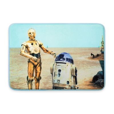 "Aquatopia™ Star Wars™ ""Episode VII-The Force Awakens"" Droids Memory Foam Accent Mat"