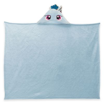 "My Little Pony ""Rainbow Hoodie"" Polyester Hooded Throw Blanket in Pale Blue"