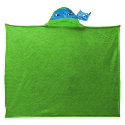 Teenage Mutant Ninja Turtles Polyester Hooded Throw Blanket in Green