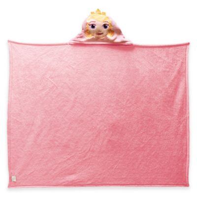 "Disney® Princesses ""Hooded Aurora"" Polyester Hooded Throw Blanket in Pink"