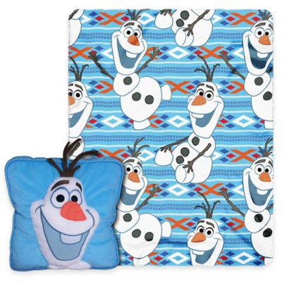 "Disney® 2-Piece ""Frozen"" All About Olaf 3D Pillow and Throw Set"