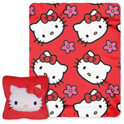 Hello Kitty® Flowers 3D Pillow and Throw