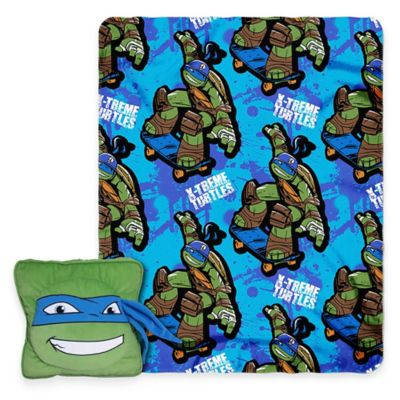 Teenage Mutant Ninja Turtles 3D Pillow and Throw Set