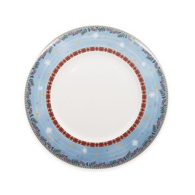 White Red Charger Plate