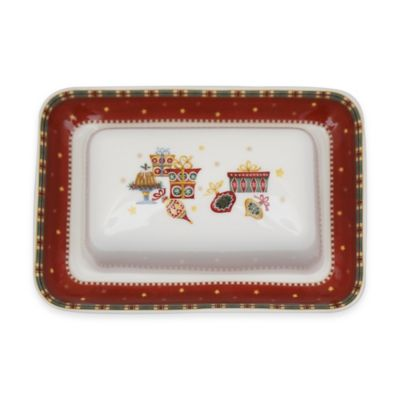 P by Prouna Nutcracker Covered Butter Dish