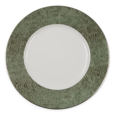 White Green Charger Plate