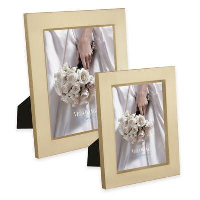 Vera Wang Wedgwood® 5-Inch x 7-Inch Satin Frame in Gold