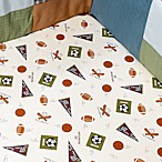 CoCaLo™ 100% Cotton Sports Fan Crib Sheet