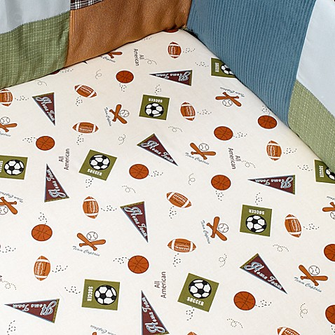 CoCaLo Baby® Sports Fan Crib Sheet