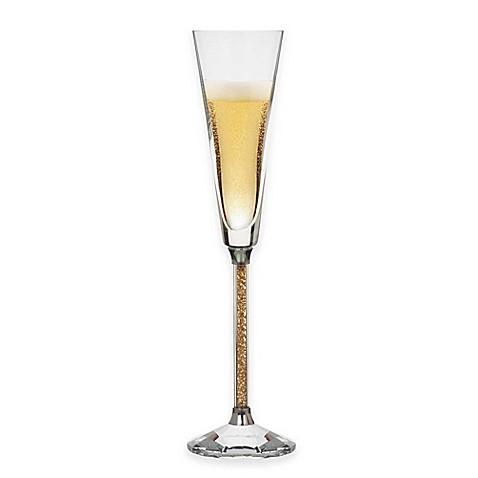 Buy Oleg Cassini Crystal Diamond Gold Toasting Flutes (Set ...