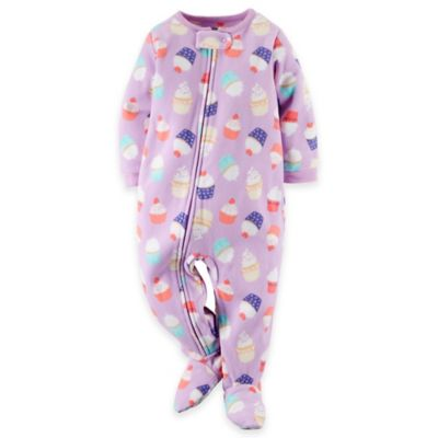 Carter's® Size 12M Cupcake Footed Pajama in Purple