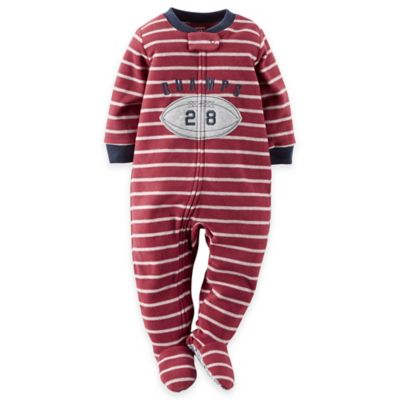 Carter's® Size 3T Football Footed Pajama in Burgundy